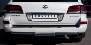 Lexus LX 570 2012 Защита заднего бампера d76 (ступень) LLXZ-000868